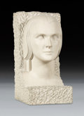Sculpture, Boris Lovet-Lorski (American, 1894-1973). Untitled (Head of a Woman), circa 1930. Limestone. 16-1/4 inches (41.3 cm) hig...