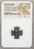 Ancients:Roman Imperial, Ancients: Titus, as Caesar (AD 79-81). AR quinarius (14mm, 1.53 gm,7h). NGC Fine 4/5 - 3/5, scratches....