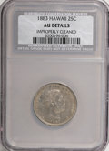 Coins of Hawaii: , 1883 25C Hawaii Quarter--Improperly Cleaned--NCS. AU Details. NGC Census: (12/648). PCGS Population (29/1136). Mintage: 500...