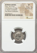 Ancients:Roman Imperial, Ancients: Titus, as Augustus (AD 79-81). AR denarius (19mm, 3.50 gm, 6h). NGC XF 4/5 - 4/5....