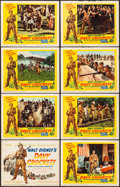 """Movie Posters:Western, Davy Crockett, King of the Wild Frontier (Buena Vista, 1955). Fine+. Lobby Card Set of 8 (11"""" X 14""""). Western.. ... (Total: 8 Items)"""
