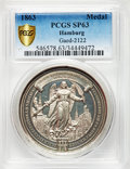 "German States, German States: Hamburg silver Specimen ""Inauguration of theReconstructed St. Nikolai Church"" Medal 1863 SP63 PCGS,"