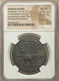Ancients:Roman Imperial, Ancients: Divus Vespasian (AD 69-79). AE sestertius (36mm, 24.01gm, 5h). NGC Choice VF 4/5 - 2/5, smoothing....