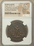 Ancients:Roman Imperial, Ancients: Trajan (AD 98-117). AE sestertius (35mm, 29.56 gm, 6h).NGC Choice VF 5/5 - 3/5, Fine Style....