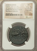Ancients:Roman Imperial, Ancients: Hadrian (AD 117-138). AE sestertius (32mm, 26.32 gm, 1h).NGC VF 5/5 - 2/5, Fine Style....