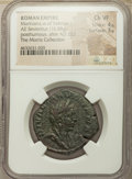 Ancients:Roman Imperial, Ancients: Diva Mariniana (after AD 253). AE sestertius (31mm, 16.88gm, 7h). NGC Choice VF 4/5 - 3/5....