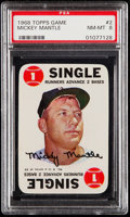 Baseball Cards:Singles (1960-1969), 1968 Topps Game Mickey Mantle #2 PSA NM-MT 8....