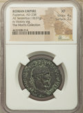 Ancients:Roman Imperial, Ancients: Pupienus (April-June AD 238). AE sestertius (30mm, 18.07gm, 1h). NGC XF 4/5 - 2/5....