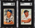 Baseball Cards:Sets, 1952 Bowman Baseball Near Set (251/252). ...
