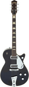 Musical Instruments:Electric Guitars, 1957 Gretsch 6123 Duo Jet Black Solid Body Electric Guitar, Serial # 22727....