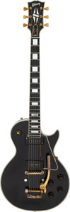 Musical Instruments:Electric Guitars, 1955 Gibson Les Paul Custom Black Solid Body Electric Guitar, Serial # 511572....