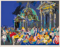 LeRoy Neiman (1921-2012) Piazza de Popolo, 1988 Serigraph in colors on paper 33 x 41 inches (83.8
