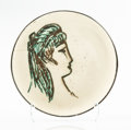 Sculpture:Contemporary (1950 to present), Pablo Picasso (1881-1973). Sylvette, 1955. Faïence ceramic bowl with hand painting and glaze. 7 x 7 x 2-1/2 inches (17.8...