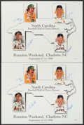 """Autographs:Others, 1998 Jim """"Catfish"""" Hunter, Gaylord Perry, Hoyt Wilhelm, & Enos Slaughter Signed Limited Edition Perez-Steele Posters Lot of 2 ..."""