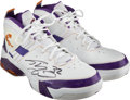 Basketball Collectibles:Others, 2008-09 Shaquille O'Neal Game Worn & Signed Phoenix SunsSneakers from 3/1 Win Against Lakers. ...