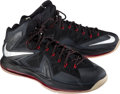 """Basketball Collectibles:Others, 2013 LeBron James Game Worn """"Diamond Collection"""" Sneakers...."""