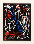 Prints & Multiples:Print, A. R. Penck (1939-2017). Mul, Bul Dang & Sentimentality, from Official Arts Portfolio of the XXIVth Olympiad, Seoul, K...