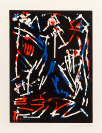 A. R. Penck (1939-2017) Mul, Bul Dang & Sentimentality, from Official Arts Portfolio of the XXIVth O