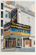 Fine Art - Work on Paper:Print, Charles Henri Ford (1913-2002). Imperial Theatre, 1988.Screenprint in colors on wove paper. 43-1/2 x 29-1/4 inches (110...