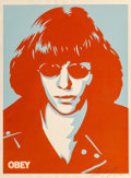 Shepard Fairey (b. 1970) Ramone Poster, 2002 Screenprint in colors on speckled cream paper 24 x 1