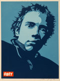 Fine Art - Work on Paper:Print, Shepard Fairey (b. 1970). Rotten Poster, 2002. Screenprintin colors on speckled cream paper. 24 x 18 inches (61 x 45.7 ...