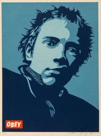 Shepard Fairey (b. 1970) Rotten Poster, 2002 Screenprint in colors on speckled cream paper 24 x 1
