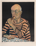 Prints & Multiples:Print, Alice Neel (1900-1984). Portrait of John Rothschild, 1980. Lithograph in colors on Arches paper. 27-1/2 x 21-3/4 inches ...