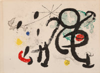 Joan Miró (1893-1983) Danse Barbare, 1963 Lithograph in colors on Rives paper 17-1/2 x 23-5/8 inc