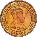 Canada, Edward VII Cent 1907-H MS64 Red and Brown PCGS, He...