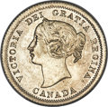 """Canada, Canada: Victoria """"Large Date"""" 5 Cents 1858 MS64 PCGS, ..."""