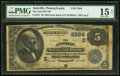 National Bank Notes:Pennsylvania, Annville, PA - $5 1882 Date Back Fr. 537 The Annville NB Ch. # (E)2384 PMG Choice Fine 15 Net.. ...