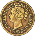"Canada, Canada: Victoria brass Pattern ""Narrow 9"" Cent 1859 Fine Details(Cleaned) PCGS,..."