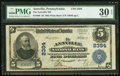 National Bank Notes:Pennsylvania, Annville, PA - $5 1902 Plain Back Fr. 606 The Annville NB Ch. # 2384 PMG Very Fine 30 EPQ.. ...