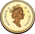 """Canada, Canada: Elizabeth II 2-Piece Certified gold """"90th Anniversary""""Proof Set 2002 PCGS,... (Total: 2 coins)"""