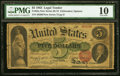 Large Size:Legal Tender Notes, Fr. 63a $5 1863 Legal Tender PMG Very Good 10.. ...