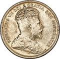 Canada, Edward VII 25 Cents 1906 MS64+ PCGS,...