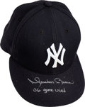 Baseball Collectibles:Hats, 2006 Mariano Rivera Game Worn Signed New York Yankees Cap....