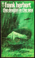 "Movie Posters:Science Fiction, The Dragon in the Sea by Frank Herbert (Avon, 1970). Very Fine-.Autographed Paperback Book (192 Pages, 4"" X 7""). Sci..."
