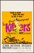"""Movie Posters:Crime, The Killers (Universal, 1964). Folded, Fine/Very Fine. Window Card (14"""" X 22""""). Crime.. ..."""