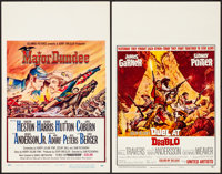 """Major Dundee & Other Lot (Columbia, 1965). Folded, Fine/Very Fine. Window Cards (5) (14"""" X 22""""). Western..."""