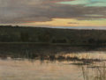 Fine Art - Painting, American, Charles Warren Eaton (American, 1857-1937). Quiet Shore,1885. Oil on canvas. 14 x 18 inches (35.6 x 45.7 cm). Signed lo...