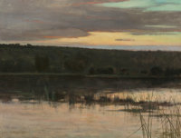 Charles Warren Eaton (American, 1857-1937) Quiet Shore, 1885 Oil on canvas 14 x 18 inches (35.6 x