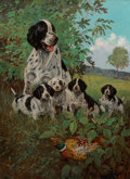 Fine Art - Painting, American, Lynn Bogue Hunt (American, 1878-1969). The First Lesson. Oilon canvas. 30 x 22 inches (76.2 x 55.9 cm). Signed lower ri...