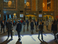Bruce Braithwaite (American/British, b. 1950) Grand Central -- Monday, 2010 Oil on canvas 36 x 48