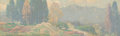 Fine Art - Painting, American, Edgar Alwin Payne (American, 1883-1947). Spring in theMountains. Oil on canvas laid on board. 15 x 48 inches (38.1 x12...