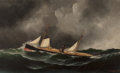 Fine Art - Painting, American, Antonio Jacobsen (American/Danish, 1850-1921). Steam Ship,1877. Oil on canvas. 22 x 36 inches (55.9 x 91.4 cm). Signed ...