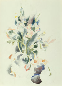 Charles Demuth (American, 1883-1935) Floral Still Life, 1922 Watercolor and pencil on paper 14 x