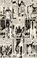 Original Comic Art:Panel Pages, Dave Gibbons Watchmen #8 Story Page 18 Rorschach and NiteOwl Original Art (DC, 1987)....