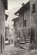 Prints & Multiples:Print, M. C. Escher (1898-1972). Street in Scanno, Abruzzi, 1930. Lithograph on Fabriano paper. 24-3/4 x 17 inches (62.9 x 43.2...