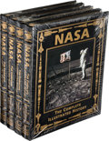 Explorers:Space Exploration, Buzz Aldrin Signed Leather-Bound Limited Edition Books (Four Copies, Still Sealed): NASA, The Complete Illustrated Histo... (Total: 4 )